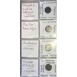 World Coinage Lot;  includes German coinage.  includes 9 various coins from the Upper Palatinate dis