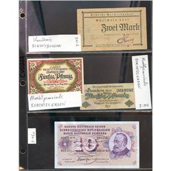 World Banknote Lot;  includes German issues.  Lot of 9 various issues.