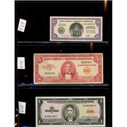 World Banknote Lot;  Lot of approx 27 notes from Dominican Republic & Haiti .  See images.