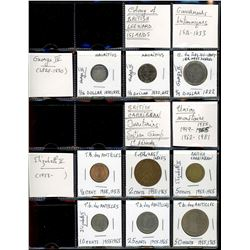 World Coinage Lot;   Lot of approx 67 various issues from West Indies and its regions.  Petites Anti