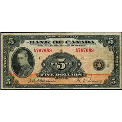 1935 $5 BC-5 #A767089, PMG Very Fine-25.  Designated with pinholes.  A Nnice and decent example.
