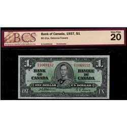 1937 $1 BC-21a #DA1069152  Very Fine-20 , 1954 $1 BC-29b EF45 & $100 BC-35b Fine-15.  Lot of 3 BCS g