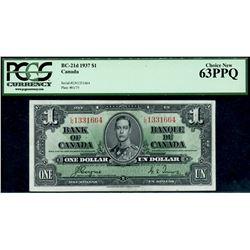 1937 $1 BC-21d #LN13311664, PCGS Choice Uncirculated-63PPQ.