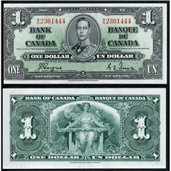 1937 $1 BC-21d #WN2361444. Original UNC note with slight mishandling.