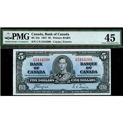 1937 $5 BC-23c #CS5444390, PMG EF45.