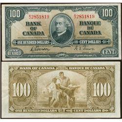 1937 $100 BC-27b #BJ2851819, VF+.