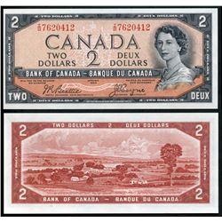 1954 $2 BC-30b #IB7620412, Original AU example.