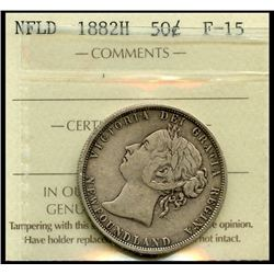 Nfld 1882H 50¢ ICCS Fine-15.