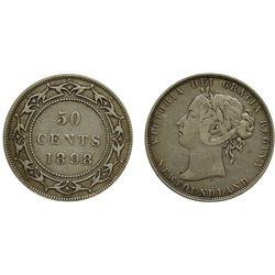 Nfld 1898 50¢ F+ for grade.  Sml W.