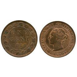 1884 1¢ MS-60 or better 30% lustre.