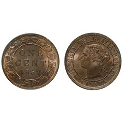 1887 1¢ ICCS Choice Mint State-64RD.  NN835