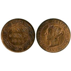 1895 1¢ ICCS Choice Mint State-63RB.