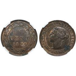1898H 1¢ NGC UNC Details.  Designated with enviromental damage (sml vers der gris stain).