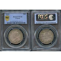 1913 50¢ PCGS Very Fine-30.