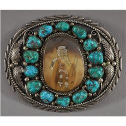 NAVAJO INDIAN BUCKLE (BENNETT)