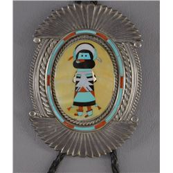 ZUNI INDIAN BOLO (PAUL PEYKETEWA)