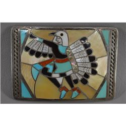ZUNI INDIAN BUCKLE ( HELEN & LINCOLN ZUNNIE)