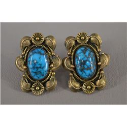NAVAJO INDIAN EARRINGS (CARL LUTHEY)