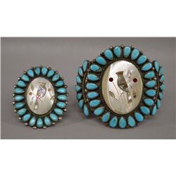 ZUNI INDIAN BRACELET AND RING (MADELINE BEYUKA)