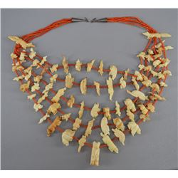 NAVAJO INDIAN FETISH NECKLACE