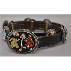ZUNI INDIAN CONCHO BELT (BEV ETSATE)