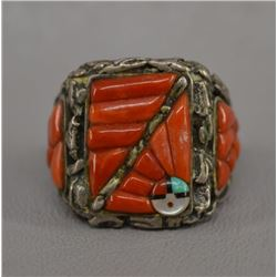 ZUNI INDIAN RING (LEE & MARY WEEBOTHEE)