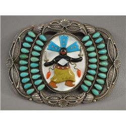 NAVAJO INDIAN BUCKLE (ERNEST AND BETTY SHIRLEY)