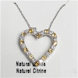 "Silver Natrual Citrine 18"" Necklace, Suggested Retail Value $100"