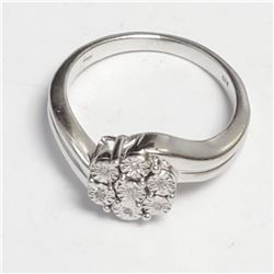 Silver 7 Diamond Ring (~Size 7), Suggested Retail Value $180
