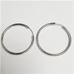 Silver Hoop Earrings, Suggested Retail Value $60