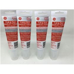 GE Tub & Tile Silicone(4 x 82.8ml)
