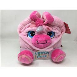 Lunch Pets Plush Lunch Box -Pink Unicorn