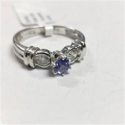 Silver Tanzanite(0.4ct) Ring, Made in Canada, Suggested Retail Value $240