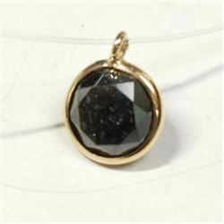 10K Yellow Gold Floating Black Diamond(1ct) Necklace, Custom Designed in Canada, Appraised Retail $1