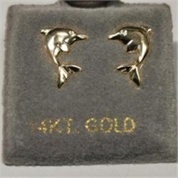 14K Yellow Gold Earrings, Made in Canada, Suggested Retail Value $140