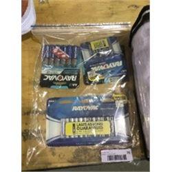 Bag of Rayovac AA and AAA Batteries