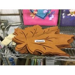 "Felt Leaf Reversible Placemats (18"" x 18"")"