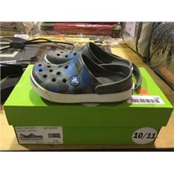 Crocs Kids Grey/Blue Size 10/11