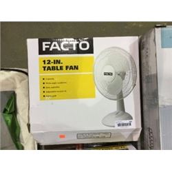 "Facto 12"" Table Fan"