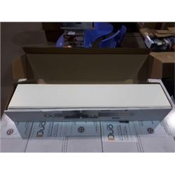 "Duo Atrium Flooring Panels - White Marble Finish - (1/4"" x 6"" x 32"") 16ft sq -12/box"