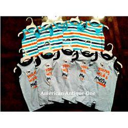 """USABabies """"R"""" Us children's clothing 10 pieces set [0-3m:7,3-6m:2,6-9m:1]"""