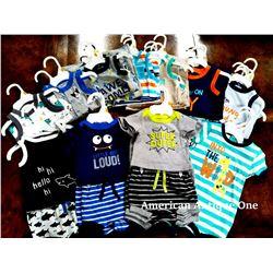 """USABabies """"R"""" Us children's clothing 30 pieces set [new born:6,0-3m:9,3-6m:4,6-9m:4,9-12m:4,12-18m:2"""