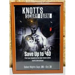 """Los Angeles Nuts Berry Farm Halloween Poster """"Nuts Scary Farm"""""""
