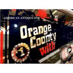 1989 49cm Coors Light Orange County / America Pub Mirror