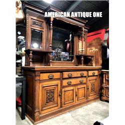204cm Wooden Cabinet & Mirror Separate