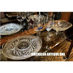 2 types of Wine Glasses & Plates 6 set / SS France Antique Tableware