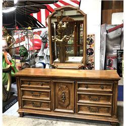 Stanley Furniture 196cm Mirror & Cabinet