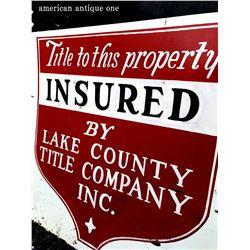 54cm LAKE COUNTY TITLE CONPANY INC. Sign