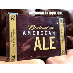 Budweiser American Ale Reversible Wooden Sign