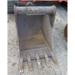 "Bucket Attachment, 23"" Wide (marked as bad)"